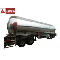 China ADR Standard Fuel Tank Trailer Polished 4 Seamless Steel Tube Air Bag Suspension on sale