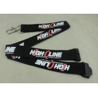 Best Customized Logo Neck Id Card Lanyard , Metal Hook Lanyard For Meeting name badge lanyards wholesale