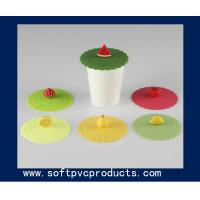 Quality Clear Round Promotional Silicone or Soft PVC Coasters / Cup Coaster with Custom Logo for sale