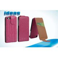 Quality For iPhone5 Vertical Leather Case Phone Cover with Plain Weave for sale