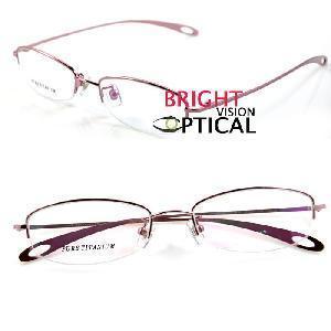 Quality Woman′s Half Rim Frame Pure Titanium Eyewear Frames (9191) for sale