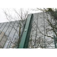 Buy cheap Green / Black Metal 358 Security Fence Powder Coated With Posts And Hardware from wholesalers
