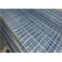 Quality Plain Type Metal Walkway Grating , 25 X 5 / 30 X 3 Galvanized Floor Grating for sale