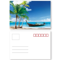 Quality Landscape Theme 3D Lenticular Postcard 0.6mm PET + 157g Coated Paper Material for sale