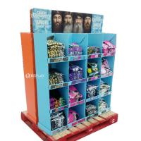Best T - Shirt Advertising Cardboard Pallet Display Shelf With Wonderful Design wholesale