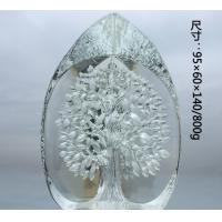 China Crystal Ornament Decorative Glass Craft With Snake on the Stand For Desktop on sale