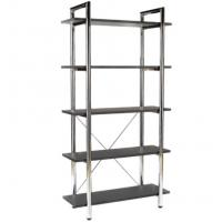 Best Anti - Rust Tall Office Modern Metal Bookcase Adjustable With Metal Plate Rack wholesale