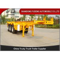 China 20ft 40ft Skeletal Container Semi Trailer With Fuwa Brand Axle Spring Suspension on sale