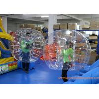 Quality Clear Inflatable Bubble Ball Red Straps Adults Inflatable Belly Ball Bump Bubbles with CE for sale
