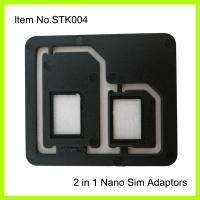 China 3FF - 2FF Cell Phone SIM Card Adapter , Normal Black Plastic ABS on sale