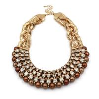 China Fashion Diamond and Pearl Necklace XL20 on sale