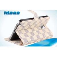 Buy cheap White Samsung Galaxy Mobile Phone Leather Cases Plaid Inserted washable from wholesalers