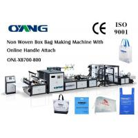 Quality Automatic Non Woven Bag Making Machine With Handle for sale