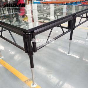 Quality Ladder Spigot Truss Wedding Platform Stage Aluminium Glass Material for sale