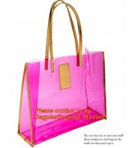 Quality moisture proof eva school bag pu shoulder bag flat handle plastic bag, eve handle bags, pvc handle bags, striated bag wi for sale