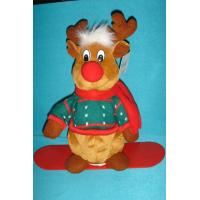Best Lovely Dressed Reindeer Soft Velboa as Personalised Christmas Gifts with ODM Available wholesale