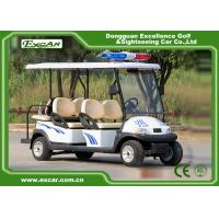 Quality 4 Seater Electric Golf Cart For Security Cruise Car With Caution Light for sale