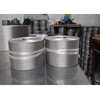 Quality Silvery Flexible Aluminum Wire Mesh Belt For Plastic Extruder Industry for sale