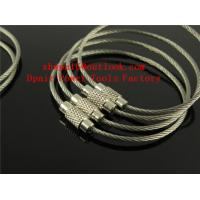 Quality Wire rope ring steel wire rope key ring for sale