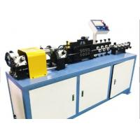 Quality 1.12KW Flexible Tube Straightening And Cutting Machine For Aluminum / Copper / Steel Tube for sale