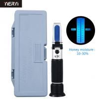 China Hand Held 10-30% Water ATC Portable Refractometer With Calibration / Honey Moisture Meter on sale