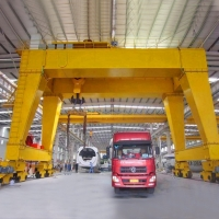 Quality Workstation 200ton MG Double Girder I Beam Gantry Crane for sale