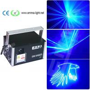 China Newly upgraded Best quality 3 watt blue 3d laser 3w dj lights dmx+ilda+sd+2d+3d single color on sale