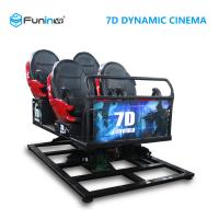 China Multi Theme 7D Cinema Equipment Black Red Color For 6 Adults / Kids Custom Design on sale