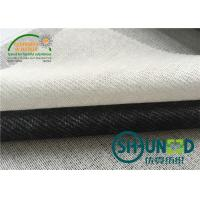 China Shrinkage Resistant  Woven Interfacing With 35% Polyester / 75% Viscose on sale