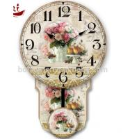 Quality Colorful rose and fruit rice Luxury Exquisite Home Decoration Modern white dial canvas large decorative clock faces for sale