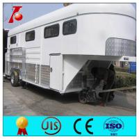 China Flatbed gooseneck trailers for sale,3 horse angle load horse trailers,horse float designs on sale