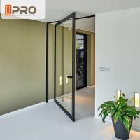 Thermal Break Aluminum Pivot Doors Color Optional For Residential And Commercial