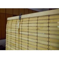 Quality Smooth Surface Bamboo Patio Shades , Window Curtains Bamboo Custom Color for sale