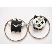 Quality Creative cartoon pig design pvc keychain with bracelet unique luggage tag shape ornaments key ring for sale