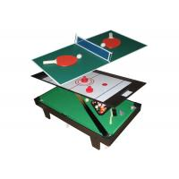 Multi Function Table Tennis Game Table Flannel Brown Color For Children