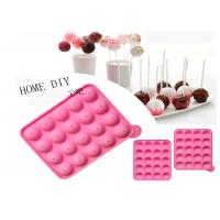 China 20 Holes Round Silica Lollipop Diy Baking Chocolate Cake Mold Anti - Aging on sale