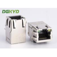 Quality 25.4mm single port tap up rj45 modular jack 10/100 base-tx telecom connector G/Y for sale