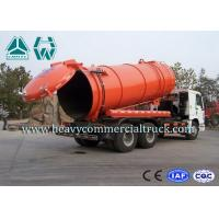 Quality 6 x 4 LHD Large Capacity Sewer Vacuum Truck For Sanitation Enterprise for sale