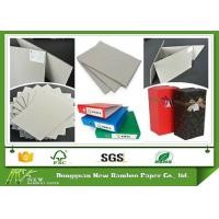 China Grade AA Full Grey Paper Board Rigid Boxes Cardboard Sheets , MSDS on sale