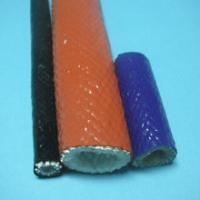 Quality Fiberglass sleeving coated with silicone rubber for sale