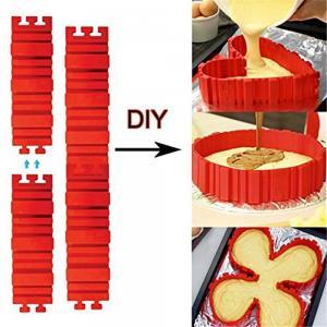 China 4pcs/set Bake All Cake Silcione Material Create Shape Cake Mold New Product DIY Bake Snake Bakeware Cake Molds on sale