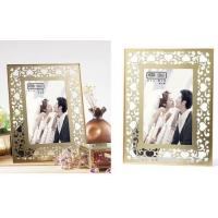 Quality Clear Double Glass Photo Frame , Glass And Metal Picture Frames For Store Decor for sale