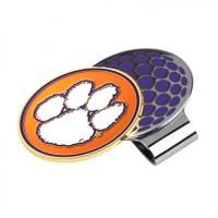 Quality Colored Collegiate Metal Visor Clip with Team Logo As Promotional Gifts for sale