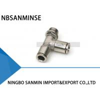 China MPST All Metal Brass Fittings Male Run Tee Pneumatic Air Fittings Tube Air Fitting Connector on sale