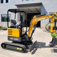 Quality Chinese Wholesale New Design 1.8ton Mini Hydraulic Digging Machine Excavator Construction Equipment for sale