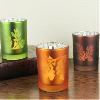 Quality laser tealight holder laser pattern candlestick cup type candle holder for sale