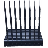 Quality 1-40m Adjustable 24/7 Continuously Working 8 Bands Cell Phone 2G 3G 4G WIFI GPS Signal Jammer for sale