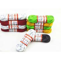 Quality Colorful Flat Waxed Ice Hockey Laces Waterproof Custom Paper Roll Packed for sale