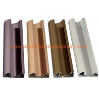 Buy C Shaped Aluminium Cabinet Door Profiles Lightweight For Crystal Steel Shutter at wholesale prices