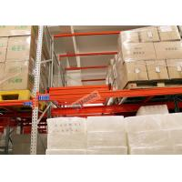 Best Beverage Industry Push Back Rack Orange Double Deep Pallet Racking Heavy Duty wholesale